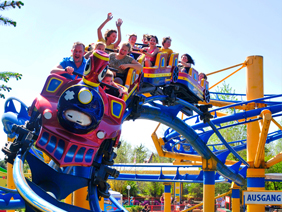 Photo of the rollercoaster at the amusement park in Strasswalchen FANTASIANA